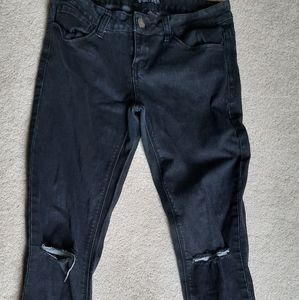 Bluefaith Junior's Ripped Skinny Jeans Size 9/10